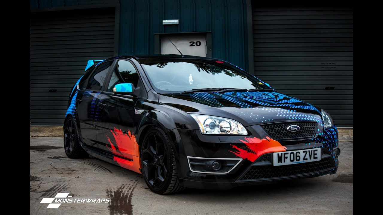 Monsterwraps Ford Focus St Wrc Gymkhana Replica Wrap
