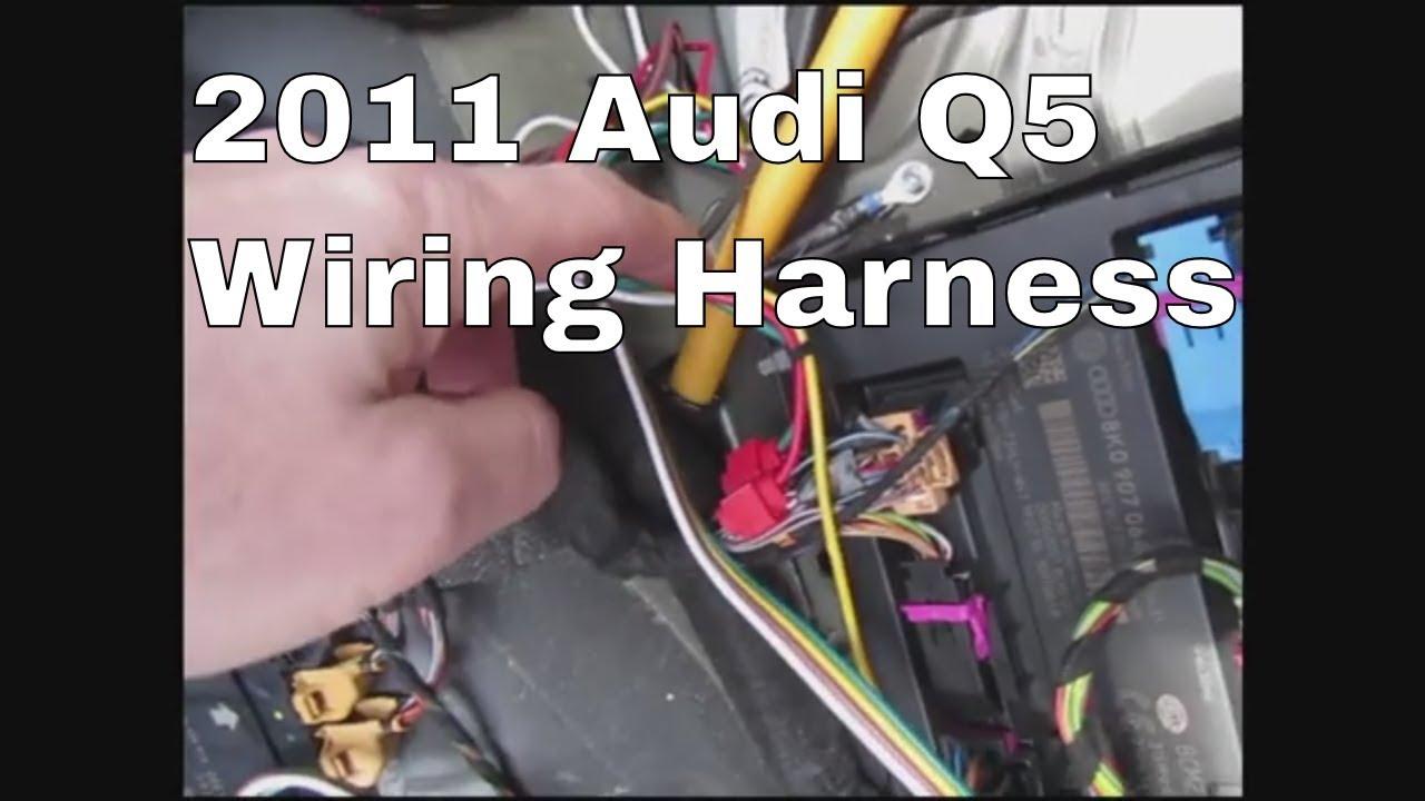 audi q5 hitch wiring 2011 audi q5 trailer wiring youtube  2011 audi q5 trailer wiring youtube