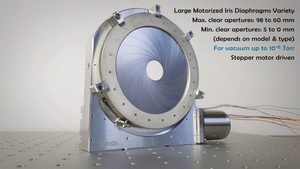 Motorized Iris Diaphragm - Motorized Positioners