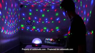 �������� ���� Bola LED DMX512 luz RGB cristal distribuido por CABLEMATIC ® ������