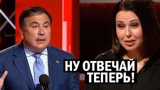Смелая журналистка загнала Саакашвили В ТУПИК острым вопросом - новости, политика