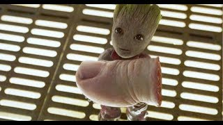 baby groot funny scenes from Guardians of galaxy   marvel entertainment   