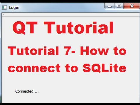QT C++ GUI Tutorial 7- How to connect Qt to SQLite