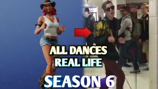 All Dances and Gestures Season 6 In Real Life, All The New Dances Fortnite, SEASON 6