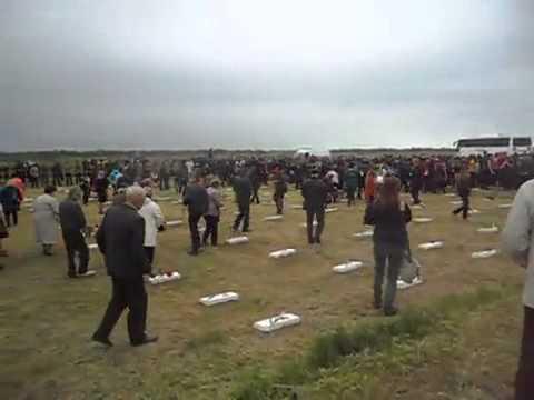 Перезахоронение советских воинов 2  Армянск 2015