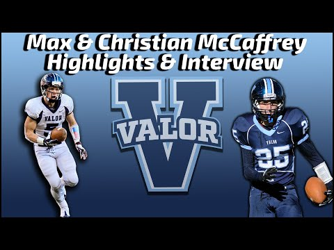 Max and Christian McCaffrey - Valor Christian Football - Sports Stars of Tomorrow