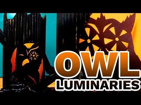 DIY Cardboard Owl Luminaries - HGTV Handmade