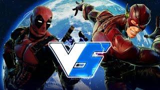 Street Fighter 5 – Deadpool vs The Flash (Marvel vs DC)!! Gameplay (PC Mods)