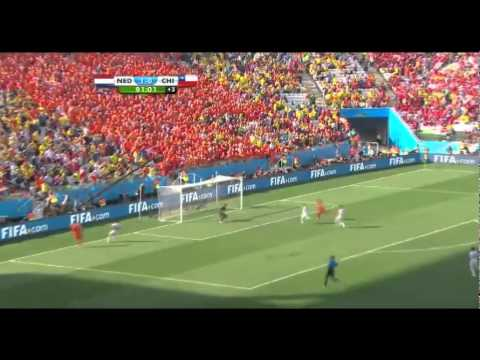 Netherlands 2 0 Chile   2014 FIFA World Cup Highlight