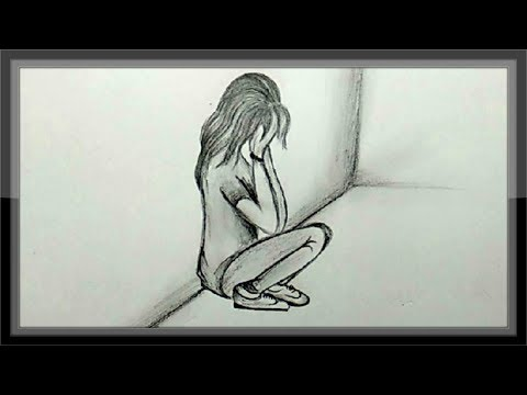 cool-easy-drawings---pencil-drawing-a-sad-girl-picture-easy