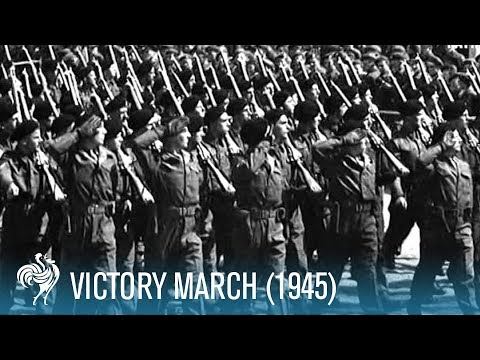 Victory March Of The 51st Highland Division (1945) | British Pathé