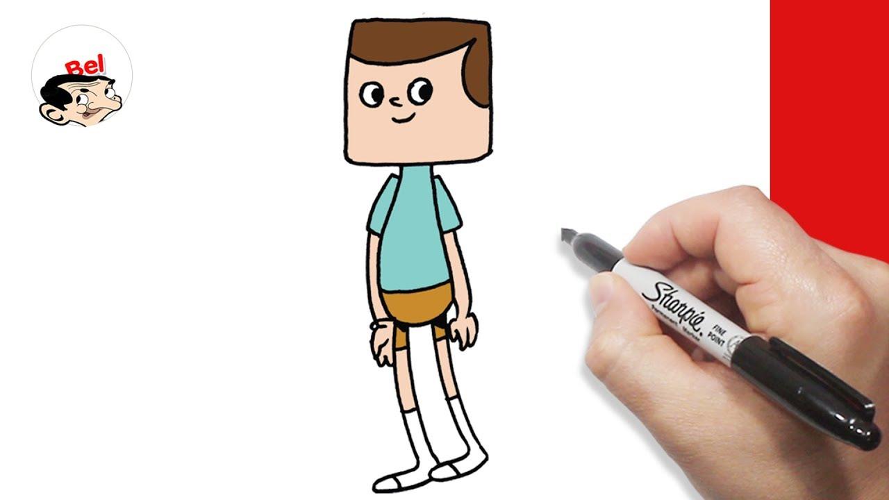 How To Draw Jeff Clarence رسم جيف كلارنس بالخطوات Youtube