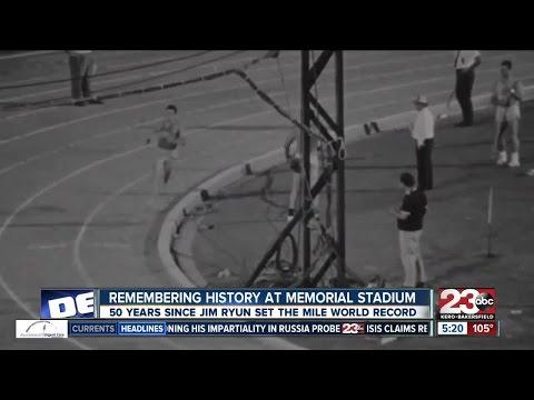 50 year anniversary of Jim Ryun setting mile world record at BC