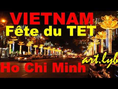 VIETNAM Fête du Tet Ho Chi Minh art.lyb