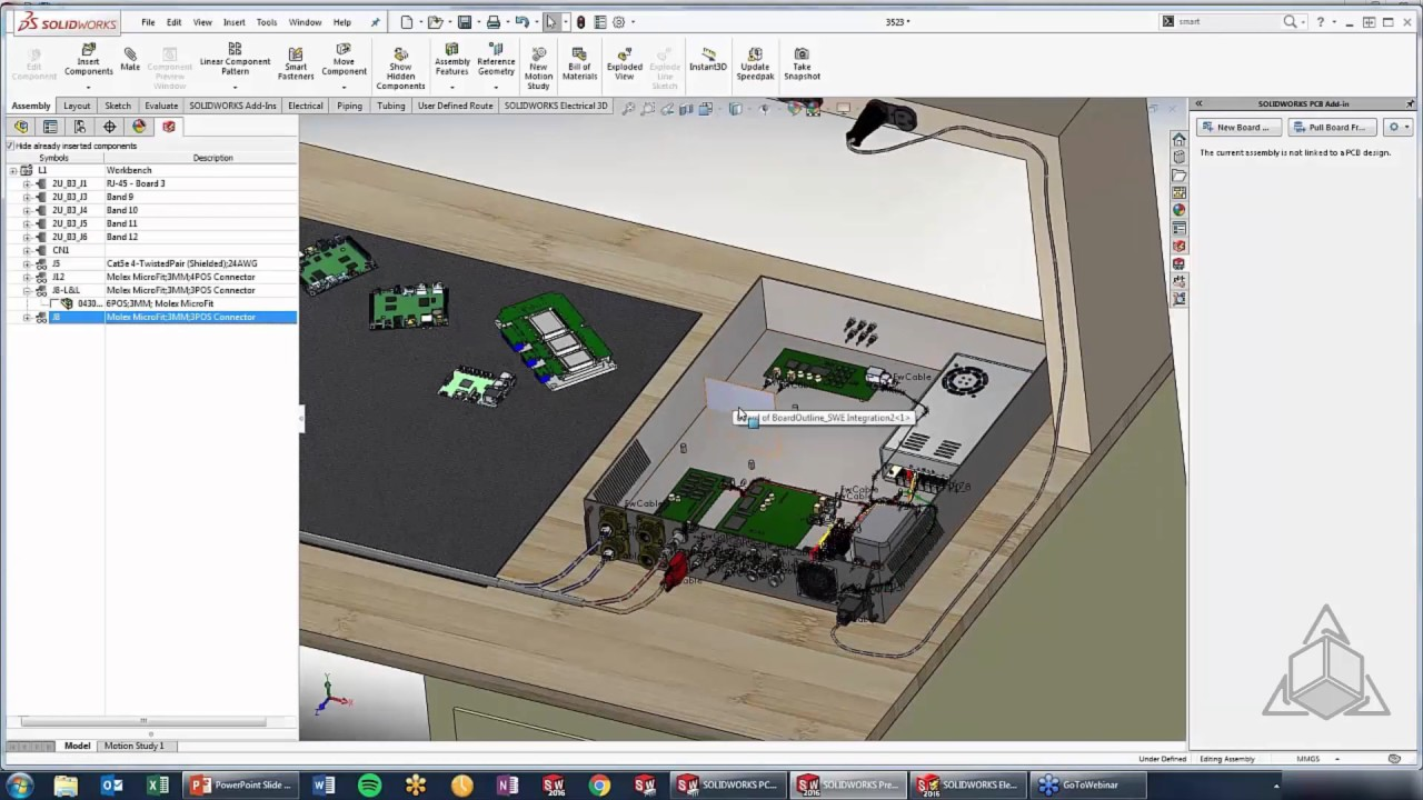 pcb with solidworks electrical youtube circuit board housing
