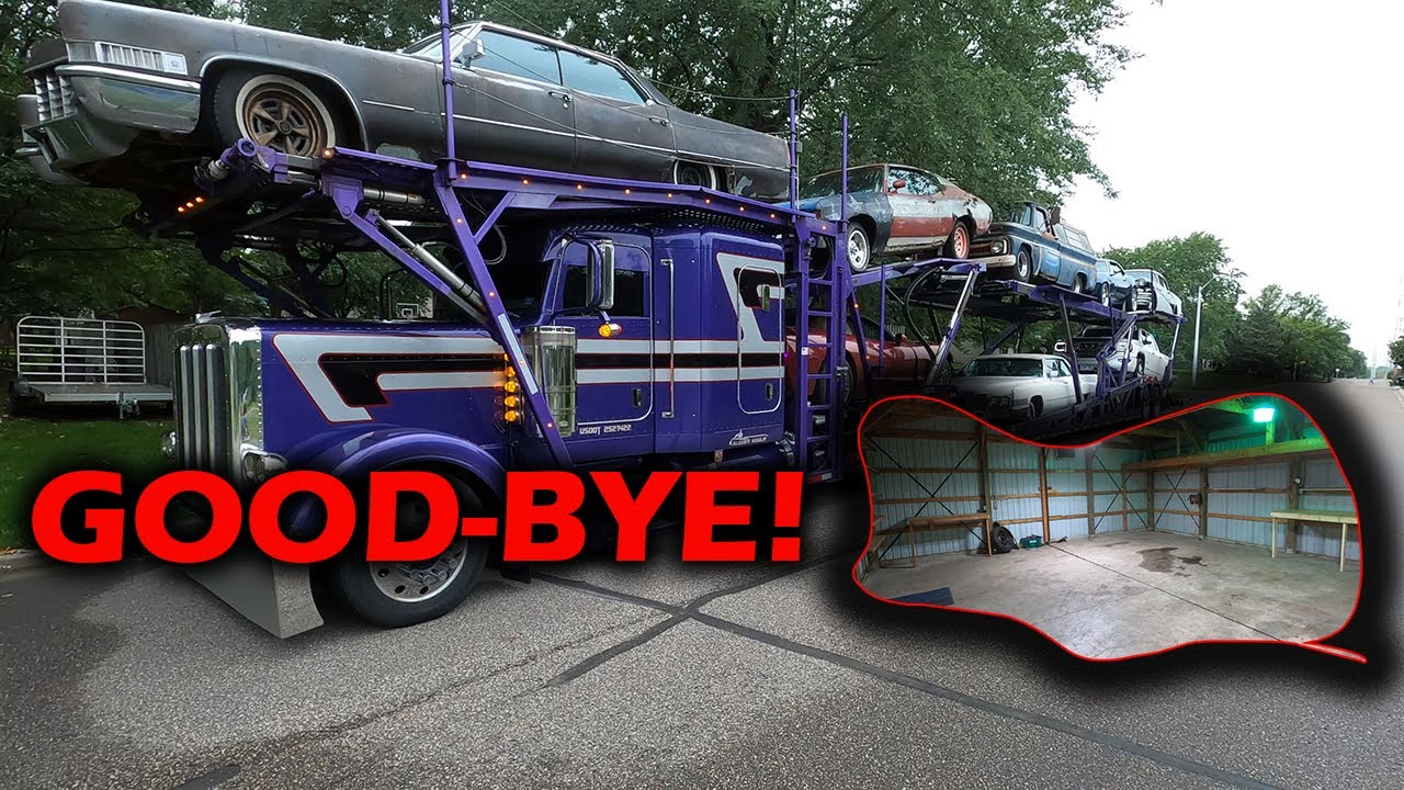 Download We hired a Insane Custom Car Hauler for our Move (Good-bye Shop!)
