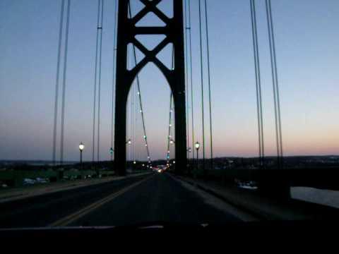 RI-114 crossing Mt. Hope Bridge, Bristol, RI