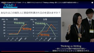 大阪経済大学ZEMI-1グランプリ2015 チーム:服部クワトロフォルマッジ「Thinking vs Writing~書くことによる選好や意思決定の変化~」