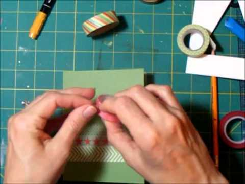 Cardmaking Process - Washi Christmas Tree Card