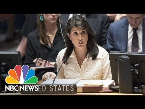 U.S. Ambassador Nikki Haley At UN: 'Double-Standard' Against Israel 'Working Overtime' | NBC News