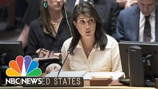 U.S. Ambassador Nikki Haley At UN: 'Double-Standard' Against Israel 'Working Overtime' | NBC News