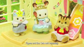 Smyths Toys - Sylvanian Families Forest Nursery,country Tree School And Nursery Double Decker Bus