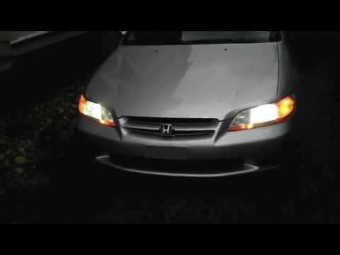 2000 Honda Accord Lx Led Headlight Replacement Youtube