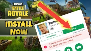 """How To"" Download / Install Fortnite Android From Play Store - How to join Early Access Program"