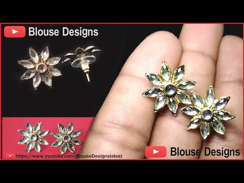 How to make stud earrings, stud earrings for women, diy stud earrings, white gold earrings