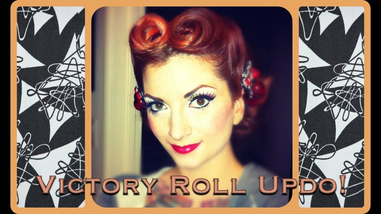 Vintage Hair Tutorial pinup bandana updo
