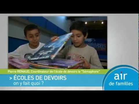 Air de Familles - Ecoles de devoirs: on y fait quoi?