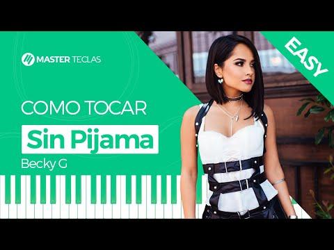💎 Sin Pijama Easy - Becky G  Piano Tutorial - Master Teclas 💎