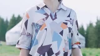 kirahosi 중년 여성 여 엄마옷  반팔 티셔츠 블…