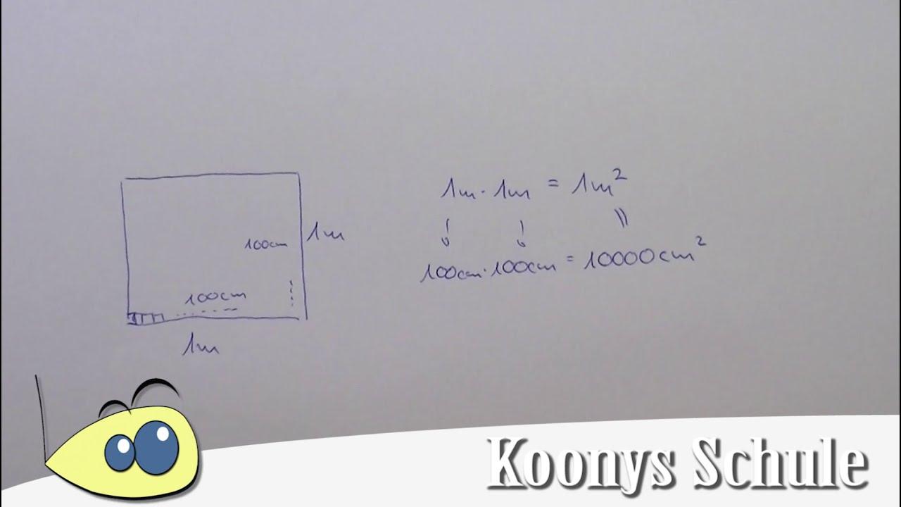 warum ist 1 m gleich 10 000 cm einheiten umrechnen quadratmeter quadratzentimeter youtube. Black Bedroom Furniture Sets. Home Design Ideas