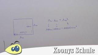Warum ist 1 m² gleich 10 000 cm² ?   Einheiten umrechnen, Quadratmeter, Quadratzentimeter