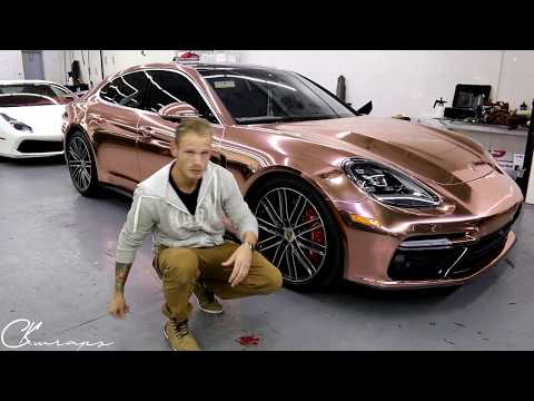 Rose Gold Chrome Porsche Panamera Turbo Part 2 All Finssihed. By @ckwraps
