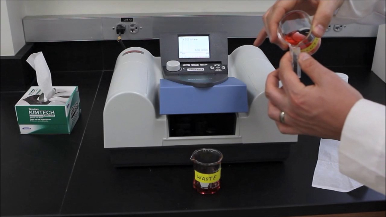 how to use a spectrophotometer spectronic 200e youtube rh youtube com spectronic 200e user guide