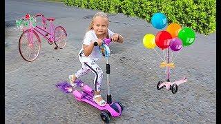 У Алисы НОВЫЙ САМОКАТ с музыкой для детей или Jet SCOOTER with music for children