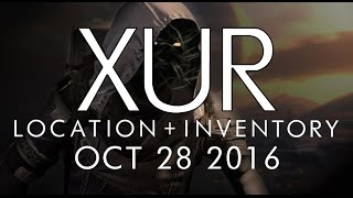 destiny xur location inventory for 10 28 16 october 28 2016 rise of iron