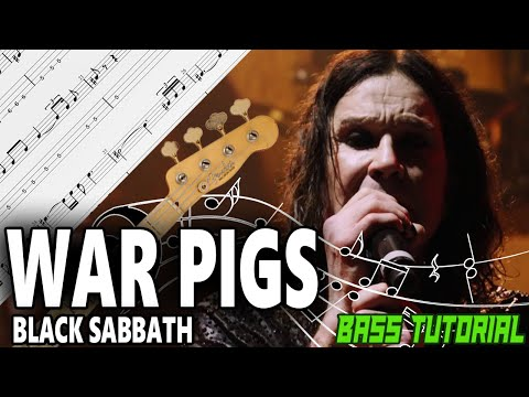 Black Sabbath - War Pigs - BASS Tutorial [With Tabs] - Play Along