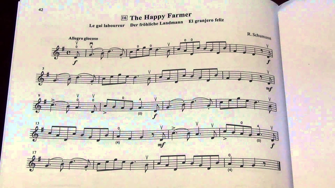 the happy farmer by schumann suzuki violin book 1 music sheet
