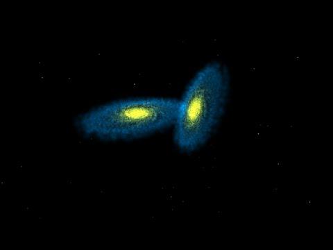 A Galactic Smash Hit: Galaxy Collision Simulation