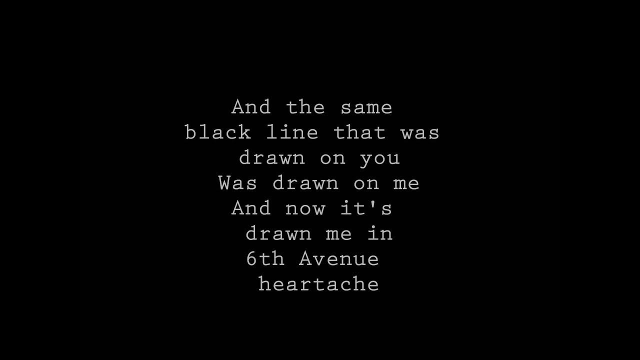 Chordsound   Chords Texts   Sixth Avenue Heartache WALLFLOWERS