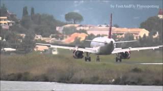 Bingo Airways A320-200 SP-AEK landing Corfu-Kerkyra Airport [LGKR/CFU] *Windy Landing*