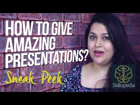 Skillopedia - Tips for Effective presentation skills ( Sneak Peek)