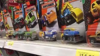TOY HUNT for Matchbox Cars 2016 Walmart Toy Hunt Hot Wheels Max Tow Monster Truck by FamilyToyReview