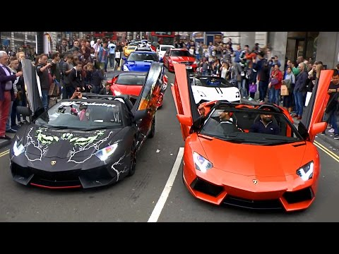 Supercars TAKE OVER Streets Of London In Convoy!