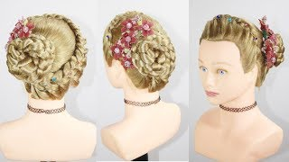 Party Bun | Side Juda Hairstyle | Juda Hairstyle | Braid Hairstyle For party