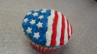 Decorating Cupcakes #106: Fourth Of July / Independence Day