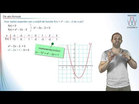 Kwadratische vergelijkingen - de abc-formule - WiskundeAcademie
